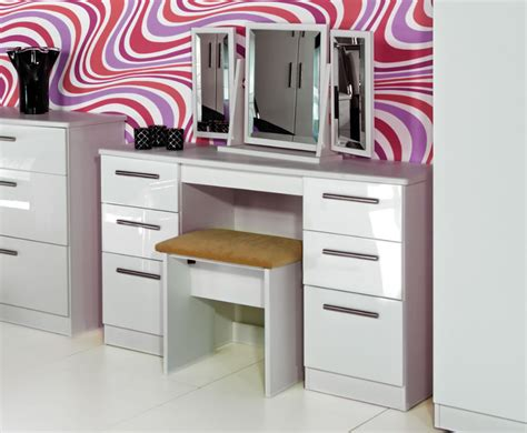white high gloss dressing table white high gloss dressing tables with stool and mirror