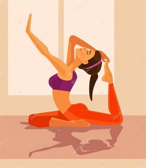 imagenes yoga vector car 225 cter de la mujer haciendo yoga ilustraci 243 n de dibujos
