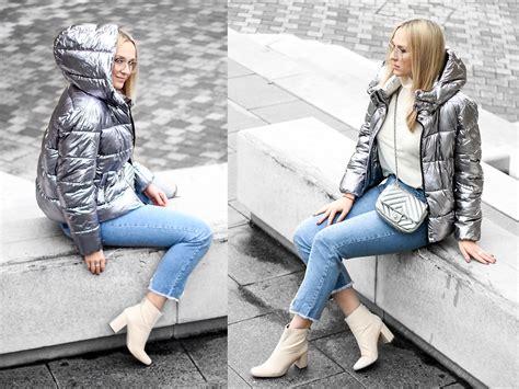 Primarks Metallic Coat by Mad Cat Fashion P Zara Silver Puffer Primark Jumper