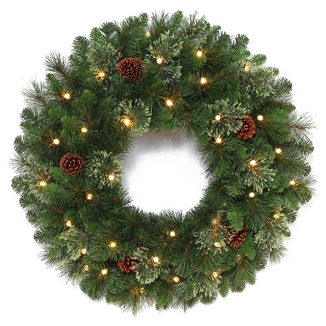 Outdoor Lighted Wreaths Enlarged Image