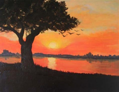 paint nite island schedule paint nite orange sunset