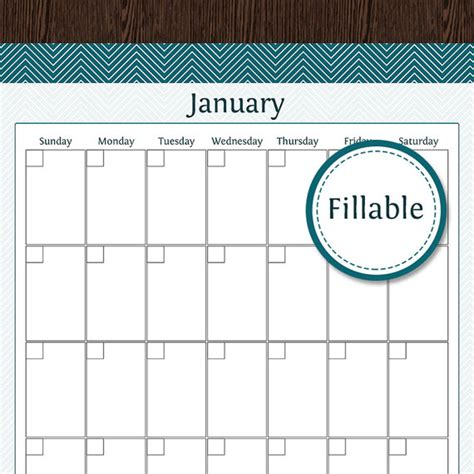 fillable calendar template fillable calender calendar template 2016