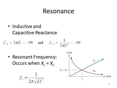 resonant frequency of inductor and capacitor rlc circuits and resonance ppt