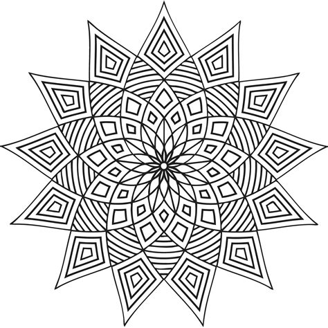 detailed geometric coloring pages to print free printable geometric coloring pages for kids