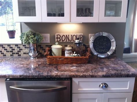 kitchen counter decor home pinterest