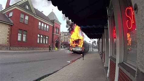 grt bus fire july   youtube