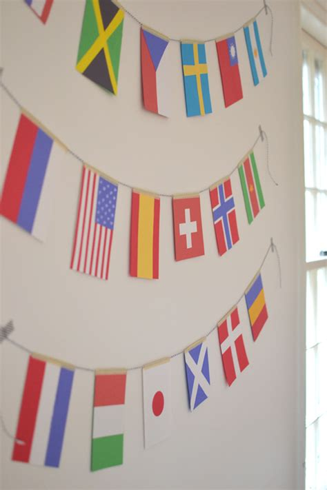 flags of the world garland diy olympic flag garland craft with kids learn about