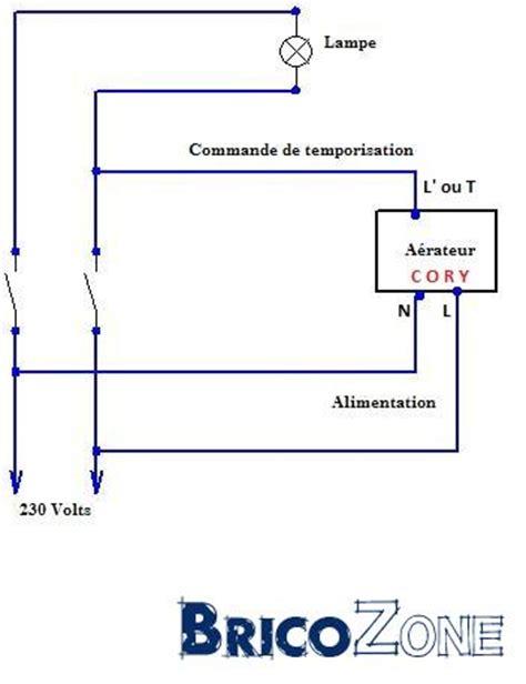 Ventilateur De Plafond à Télécommande by Branchement D Un Extracteur D Air Avec Fonction Timer