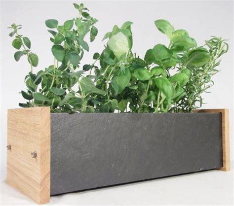 Indoor Windowsill Planter Box by Windowsill Herb And Flower Planter Trough Oak And Slate Kitchen Garden Three Plant Pot