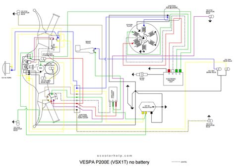 wiring diagram vespa p200e k grayengineeringeducation