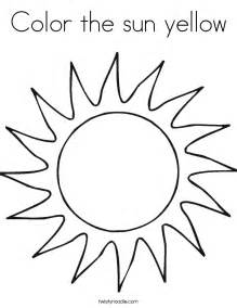 what color is the sun free coloring pages