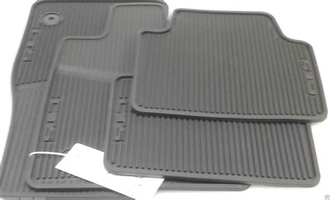 Cadillac All Weather Floor Mats by New Gm 22860182 Black Front Rear All Weather Floor Mats