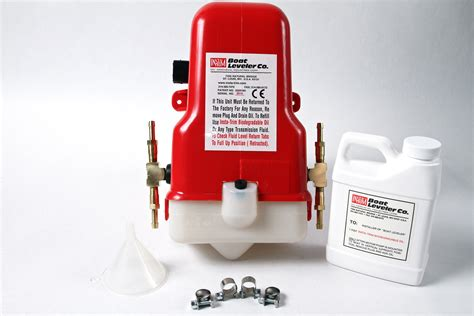 boat leveler hydraulic hose 12 volt motor pump with tees for 4 cylinders hoses