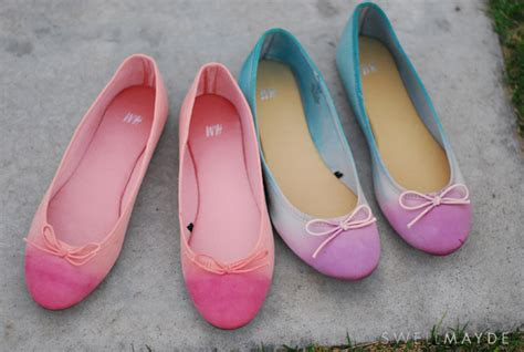 ombre shoes diy craftionary