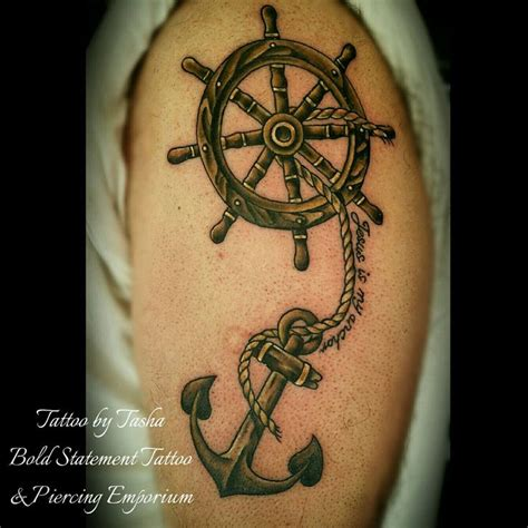 anchor and wheel tattoo designs best 25 ship wheel ideas on ship wheel