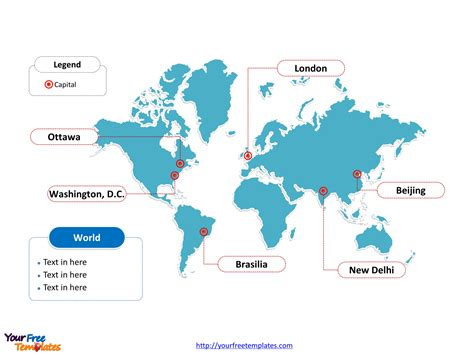 World Map Free Powerpoint Templates Free Powerpoint Templates Powerpoint Map Template