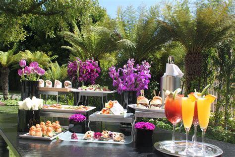 brunch setup easter bunny to hop to intercontinental hotel this sunday