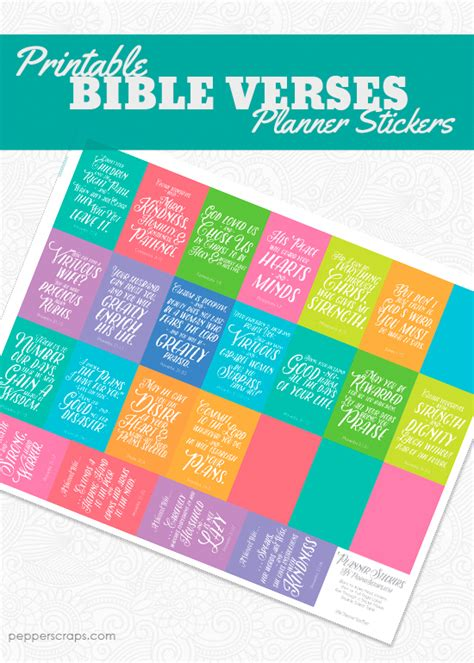 printable bible stickers bible verse planner stickers printable pepper scraps