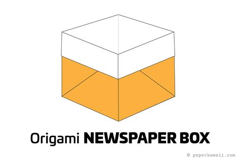 Origami Box Diagram - easy origami newspaper box tutorial