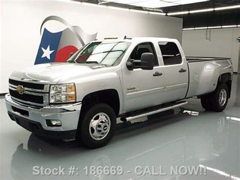 how to fix cars 2012 chevrolet silverado 3500 electronic valve timing buy used 2012 chevy silverado 3500 lt crew 4x4 diesel dually 31k texas direct auto in stafford