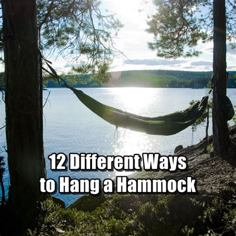 What To Use To Hang A Hammock 12 different ways to hang a hammock shtf prepping central