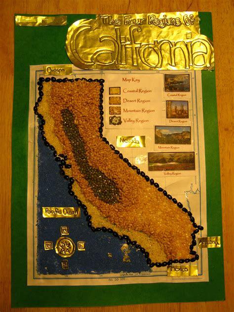 california map project california regions project ideas 4th grade california