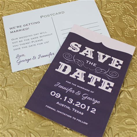 save the date template with retro type print