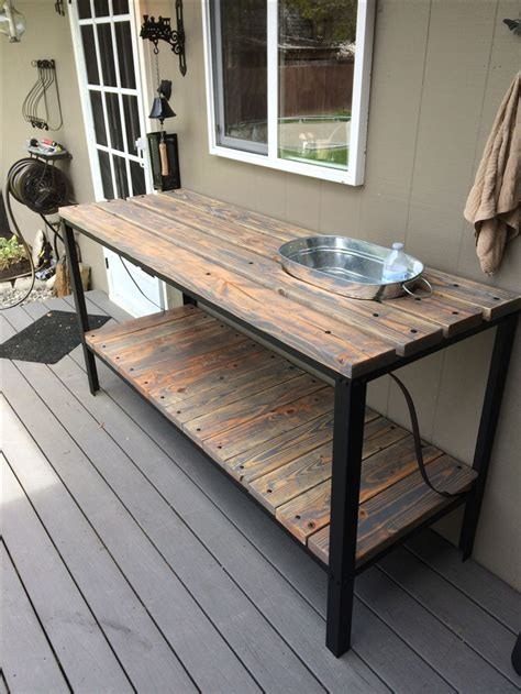 outdoor buffet table my projects pinterest industrial patterns and cream