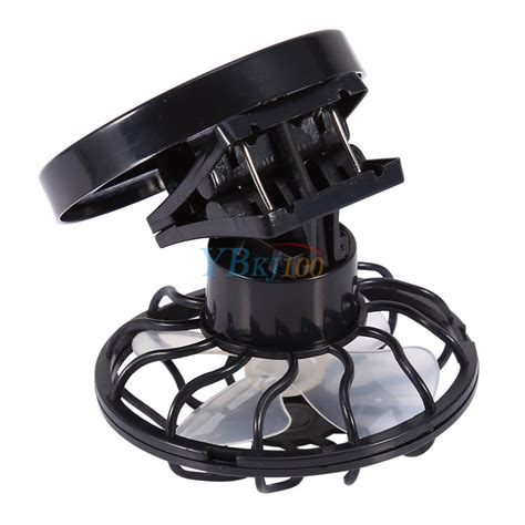 Mini Clip On Solar Power Cell Travel Cooling Cool Fan Hitam travel cing clip on cap hat mini solar power sun energy panel cell fan cooler ebay