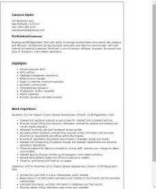 Registration Clerk Cover Letter by Professional Er Registration Clerk Templates To Showcase Your Talent Myperfectresume