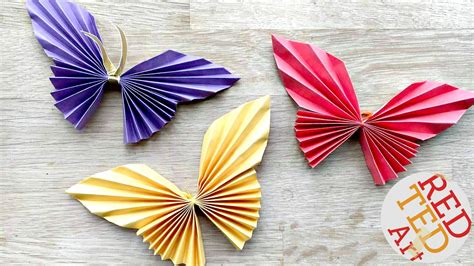 How To Make Paper Butterfly Decorations - easy paper butterfly ted s