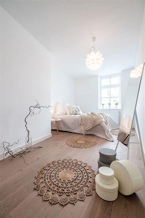fabulous bedroom draped  scandinavian minimalism decoist