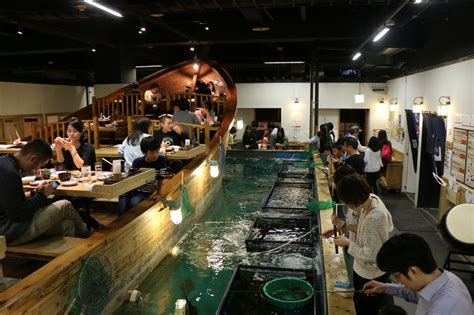 fishing boat restaurant japan zauo restaurant fishing your meal in tokyo fait au japon