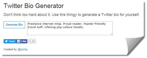 business biography generator how to build the perfect twitter bio