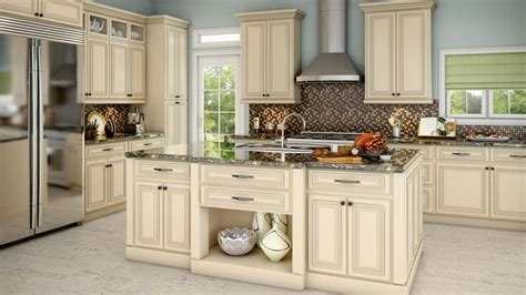 Antique White Kitchen Cabinets by White Cabinets With Brown Glaze Antique White