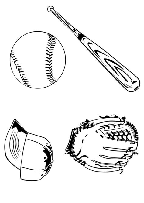 baseball glove coloring page az coloring pages