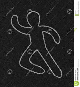 Chalk Outline Of by Chalk Outline Of Person Royalty Free Stock Photography Image 3763297