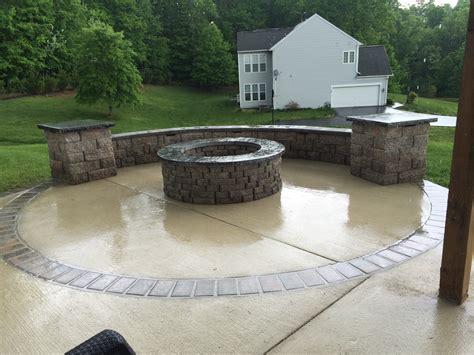 patio concrete concrete patios and walkways american exteriors masonry