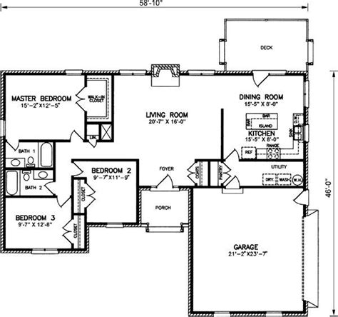 ranch home layouts simple house layout housing decor pinterest house