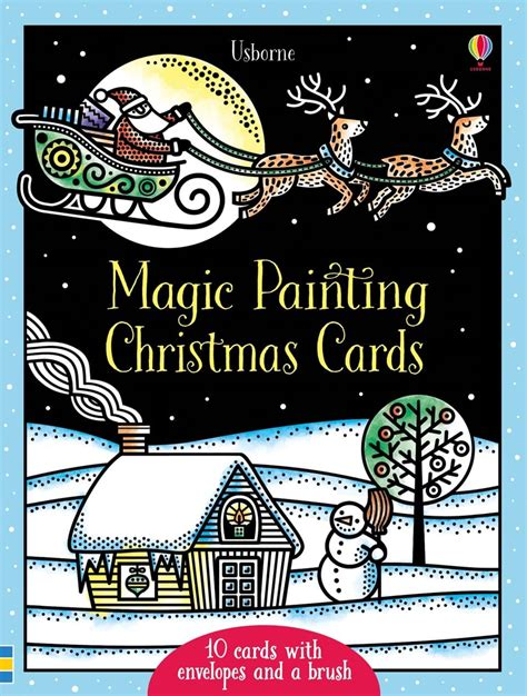 christmas magic painting book magic painting christmas cards at usborne children s books