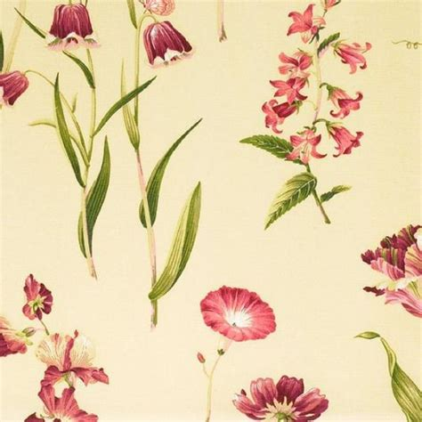 floral whimsy ecru small allover flowers from northcott floral curtains butterfly garden curtain fabric red and