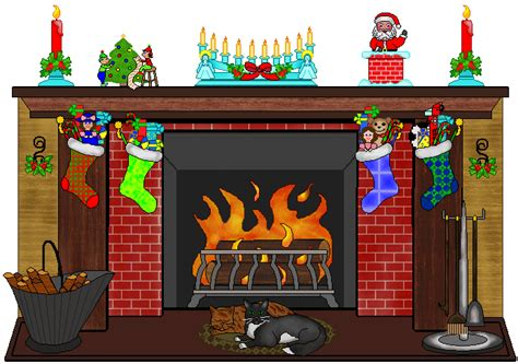 Fireplace Clipart by Fireplace Clip Decorated Fireplace With