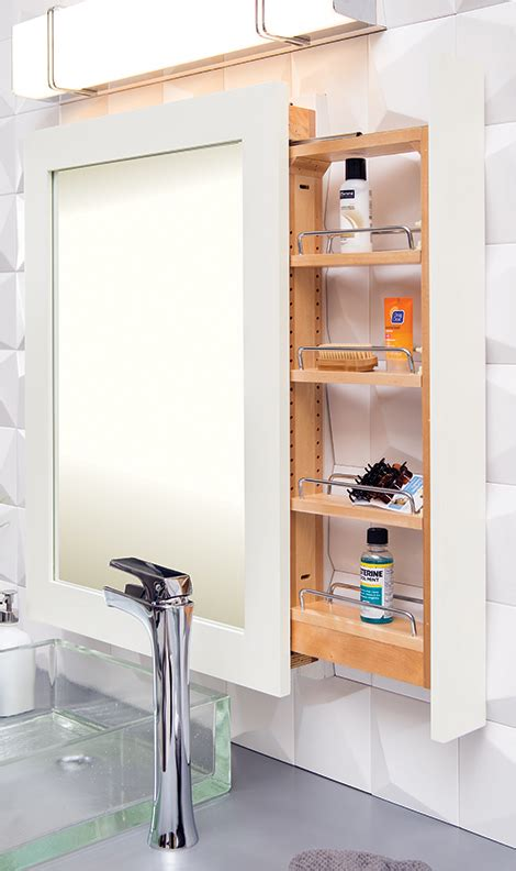 mirrors with storage pull out bathroom mirrors with mirror with pull out storage for residential pros