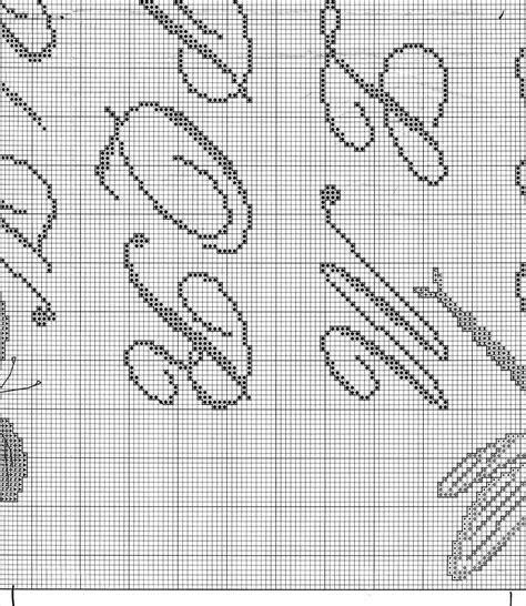lettere corsive punto croce sler punto croce con lettere corsive e farfalle 6