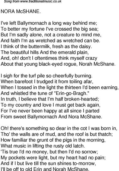 time song lyrics   nora mcshane