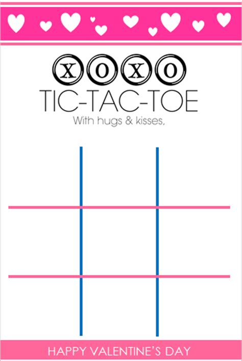 tic tac toe project template the blair project valentines