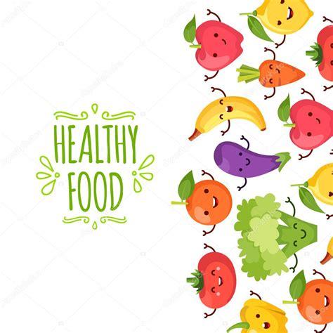 dibujo alimentos saludable alimentos de dibujos animados que representa