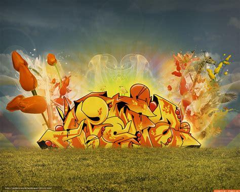 wallpaper tulips graffiti fire  desktop