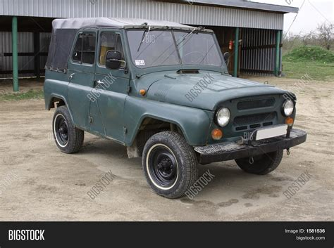 jeep russian 4x4 oldtimer russian jeep uaz image photo bigstock