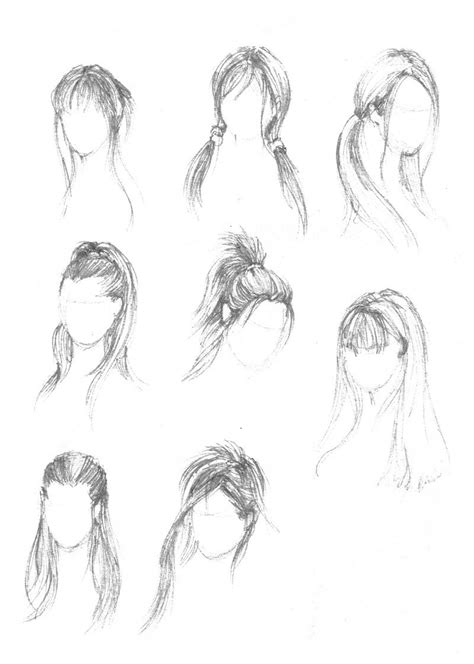 hairstyles art drawing hairstyle study by mansarali on deviantart